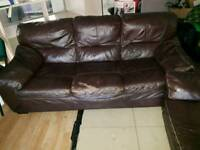 Leather sofa set - 3 and 2 seaters