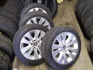 BMW X3 OEM ORIGINAL FACTORY ALLOY WHEELS AND DUNLOP WINTER SNOW TIRES FULL SET 225/50R/17 RUN FLAT STOCK# T22