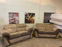 HARVEYS FABRIC SOFA SET + SOFA BED IN EXCELLENT CONDITION 2+2 seater