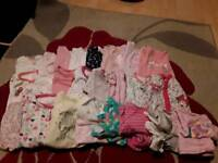 Baby girl 0-3 months sleepsuits and pajamas