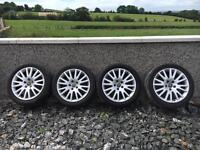"4 x 17"" Genuine Audi Alloys With Tyres"