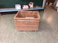 Wicker industrial basket