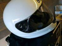 Box Motorcycle Helmet (White, Large, Almost New)