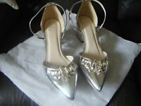 Silver Shoes - size 8