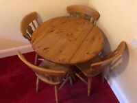 Furlong Furniture Pine Extending Dining Table And 4x Cello Chairs