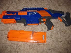 Nerf Rapidstrike with 18 dart mag fully working