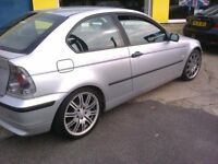 BMW 318 SE. 3 DOOR. SILVER. 1.8 PETROL. 02 REG.