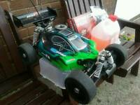 Nitro car/buggy plus controller, glow plug starter and nitro fuel