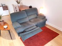 Sofa - 2 seater, reclining green & very comfortable
