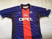 Paris Saint Germain 2000-2001 Home Shirt Large UK 42/44
