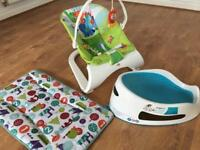 Baby starter pack: Fisher Price, Mamas and Papas, Angel Care