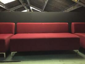 Quantity 2 - Red Sofa by Boss Design FOR SALE, 1 Sofa = £95