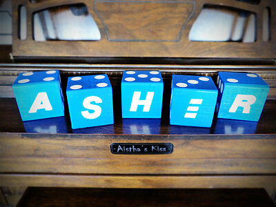 1 Jumbo Custom PERSONALIZED Name/Letter Lawn Yard Wood DICE Yahtzee,Bunco,Farkle