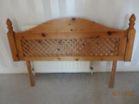 Solid Pine Stylish Double Bed Headboard