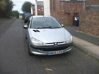 peugeot 206s 1360 c.c. 2005 mot test 13 july 2017 very clean reliable car 77591 miles