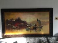 Chinese harbour Oil painting