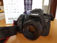 Canon 6D DSLR with 50mm 1.8 lens