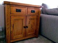 Small Rustic solid oak side board