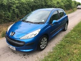 2007 Peugeot 207 1.4 Petrol, Manual. NEW MOT, Free Delivery