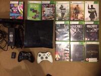 Glossy Xbox 360 slim 250gb Kinect 12 games
