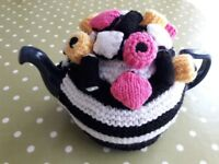 Hand Knitted Tea Cosy with Liquorice Allsorts - cash on collection from Gosport Hampshire
