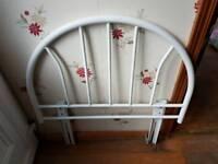Metal headboard - single bed