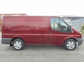 FINANCE ME!! NO VAT!! ford transit 2.2tdi pannel van in rare pepper red! massive spec!