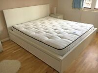 Superking size white bed and mattress. Hardly used. Fantastic value!!