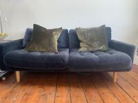 Dark Grey Velvet 2 seater sofa
