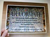 The Decormate Interior & Exterior finishers