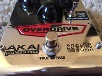 Akai Professional Analog Custom Shop Drive3 Tri-Mode Overdrive Guitar Effects Pedal