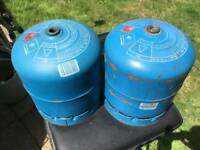 Camping gaz 907 gas bottles x 2