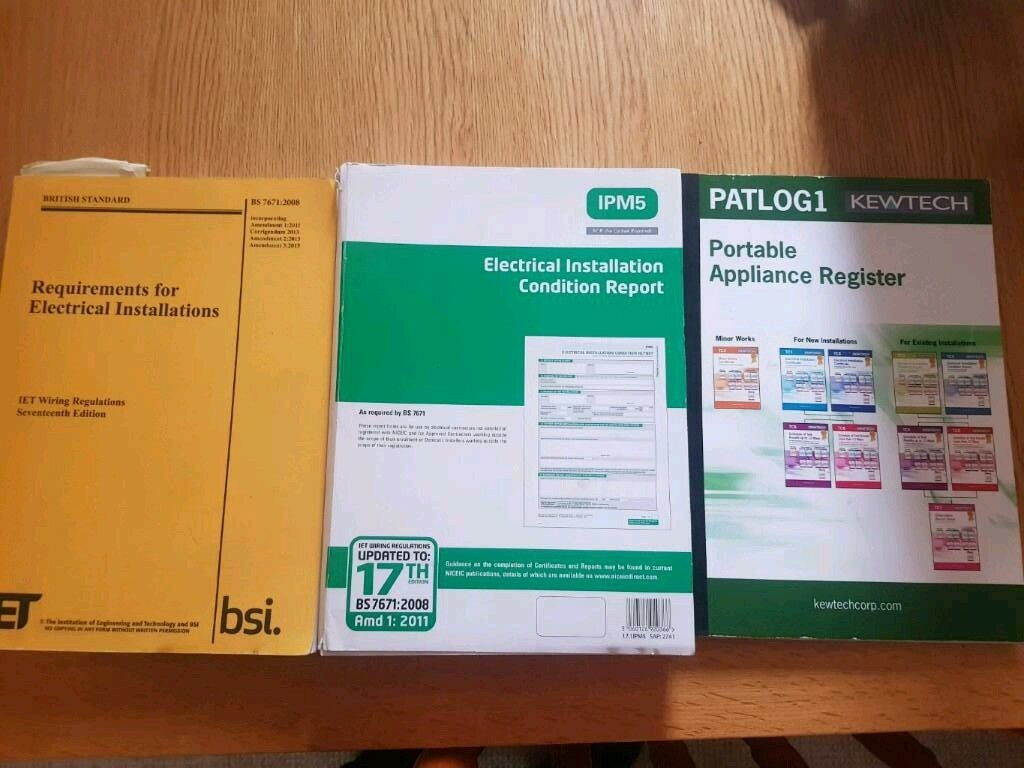 3 Electrical Books 17th Edition Pat Test Installation Report In Wiring Regulations Book