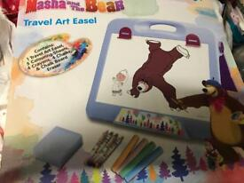 Masha and the bear travel art easel x 2