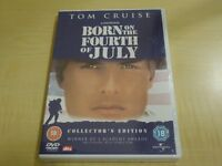 BORN ON THE FOURTH OF JULY - TOM CRUISE - DVD - IN SEALED PACKAGING