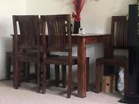 Dining Room Set Table and 4 Chairs Solid Wood Mahony Classic Kitchen Furniture paid £299