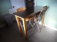 Breakfast bar and two chairs for sale