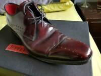 .ens Jeffery West brown shoes 8