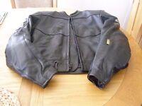Shoei ladies leather motorcycle jacket