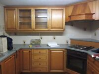 Fitted kitchen units and worktops