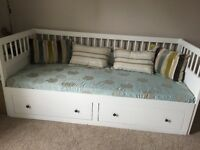 SALE AGREED - Hemnes day bed with 2 drawers and mattress