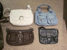 10 x Womens various handbags & shoulder bags, plus 1 x Mens courrier bag