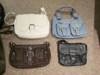 10 x Womens various handbags & shoulder bags, plus 1 x Mens courrier bag