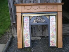Fireplace Surround and mantlepiece.