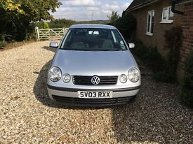 2003 Volkswagen Polo 1.4 SE, Metallic Silver, Automatic, only 43,000 genuine miles.