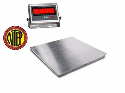 Ntep 36x36 3x3 Floor Scale Pallet Scale Stainless Steel 2500 X .5