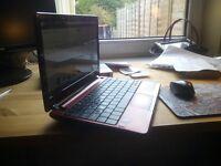 "Acer Aspire AO722 Netbook Red, 4GB RAM, 320GB HD, 11.6"", Win 10, Office"