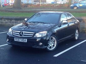 2007 (Sep 57) MERCEDES BENZ C220 2.1 CDi SPORT AMG- 4 Door - DIESEL - Manual - BLACK *12 MONTHS MOT*