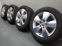 16'' GENUINE VW PERTH GOLF MK7 GT ALLOY WHEELS TYRES ALLOYS GTD MK6 MK6 CADDY PASSAT JETTA 5x112