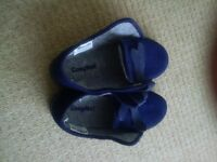 Cosyfeet Slippers (new - size 6, dark blue with velcro)